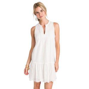 Vineyard Vines Pintuck Eyelet Dress, White, NWT